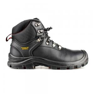 middle cut split smooth leather  safety shoes with steel toecap and steel midsole (SN6061)