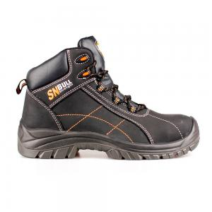 middle cut action nubuck upper safety shoes with comppsite toecap and Kevlar midsole (SN5873)