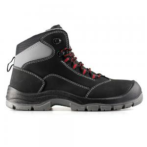middle cut action nubuck upper safety shoes with steel toecap and steel midsole (SN6113)