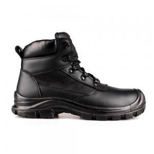 middle cut split smooth leather  safety shoes with steel toecap and steel midsole (SN6060)