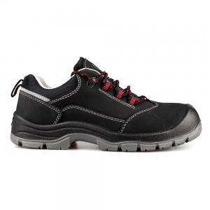 low cut action nubuck upper safety shoes with steel toecap and steel midsole (SN6114)