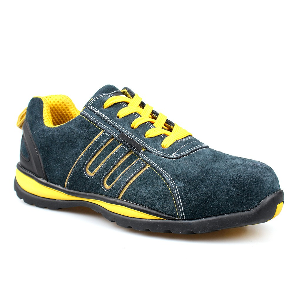low cut cow suede leather upper safety shoes with composite toecap and kevlar midsole with EVA/RUBBER sole (P3005)