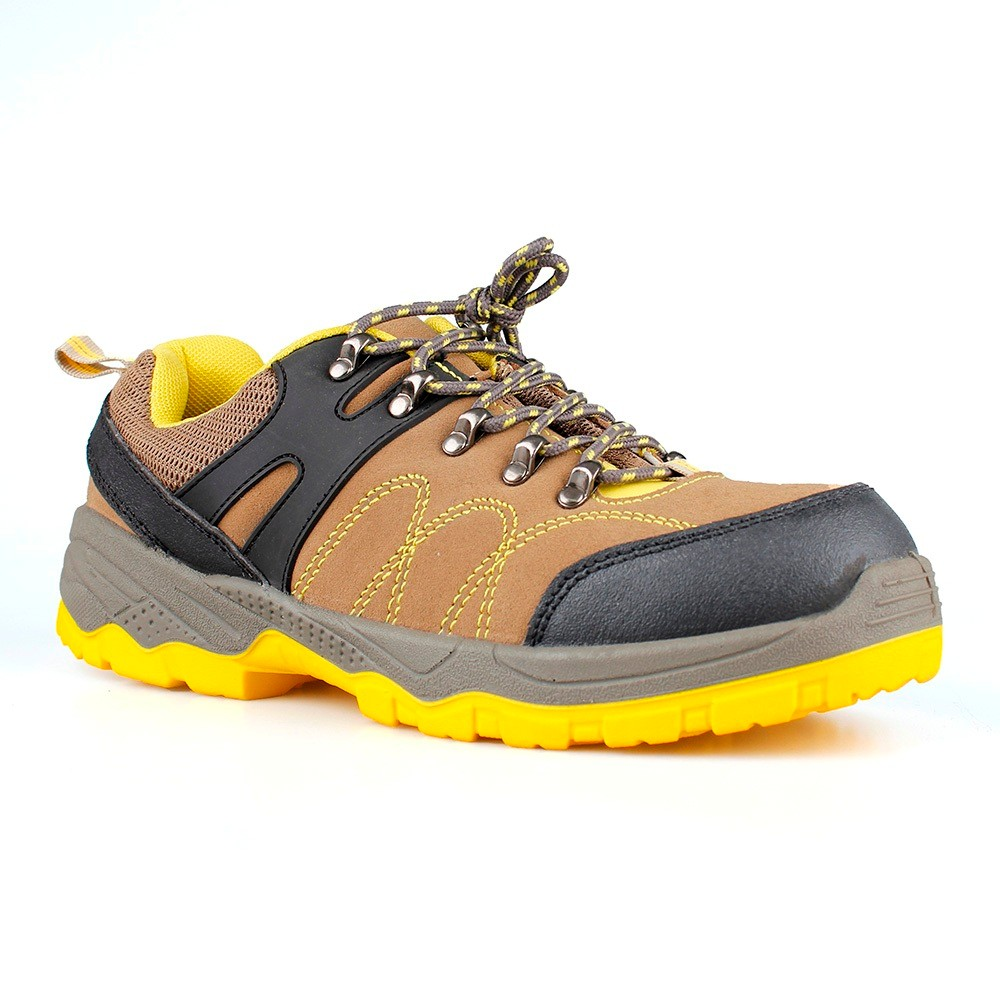 low cut cow suede leather upper safety shoes with steel toecap and steel midsole (SN5633)