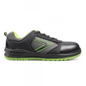 Black Nubuck Leather PU/PU Injection Safety Shoes Work Footwear Work Boots Safety Footwear Sn5928