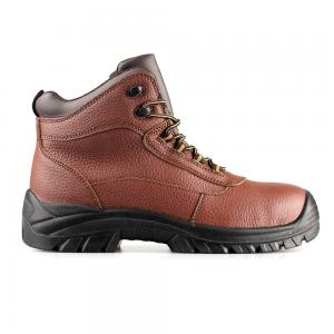 middle cut brown leather upper safety shoes with steel toecap and steel midsole (SN6064)