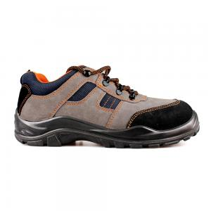 low cut cow suede leather upper safety shoes with steel toecap and steel midsole (SN6054)