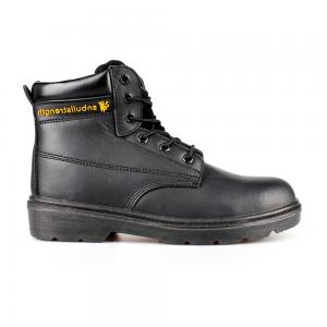 middle cut split smooth leather  safety shoes with steel toecap and steel midsole (SN5713)