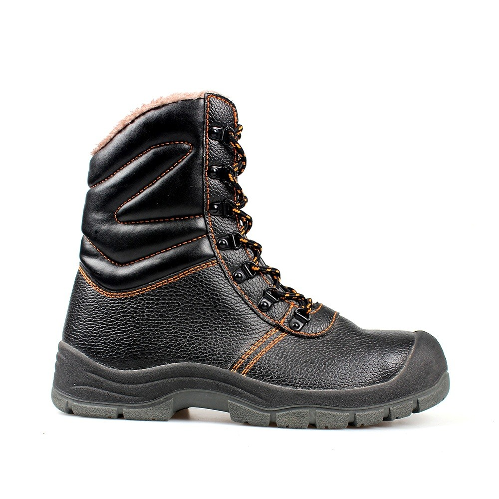 Geniune Leather Safety Boots with Fur Lining and Steel Toe Cap+Ce Certificate /Industrial Safety Shoes /Work Boots/Military Boot/Army Shoes Best Quality Sn5300