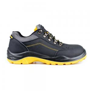 low cut action nubuck upper safety shoes with steel toecap and steel midsole (SN6015)