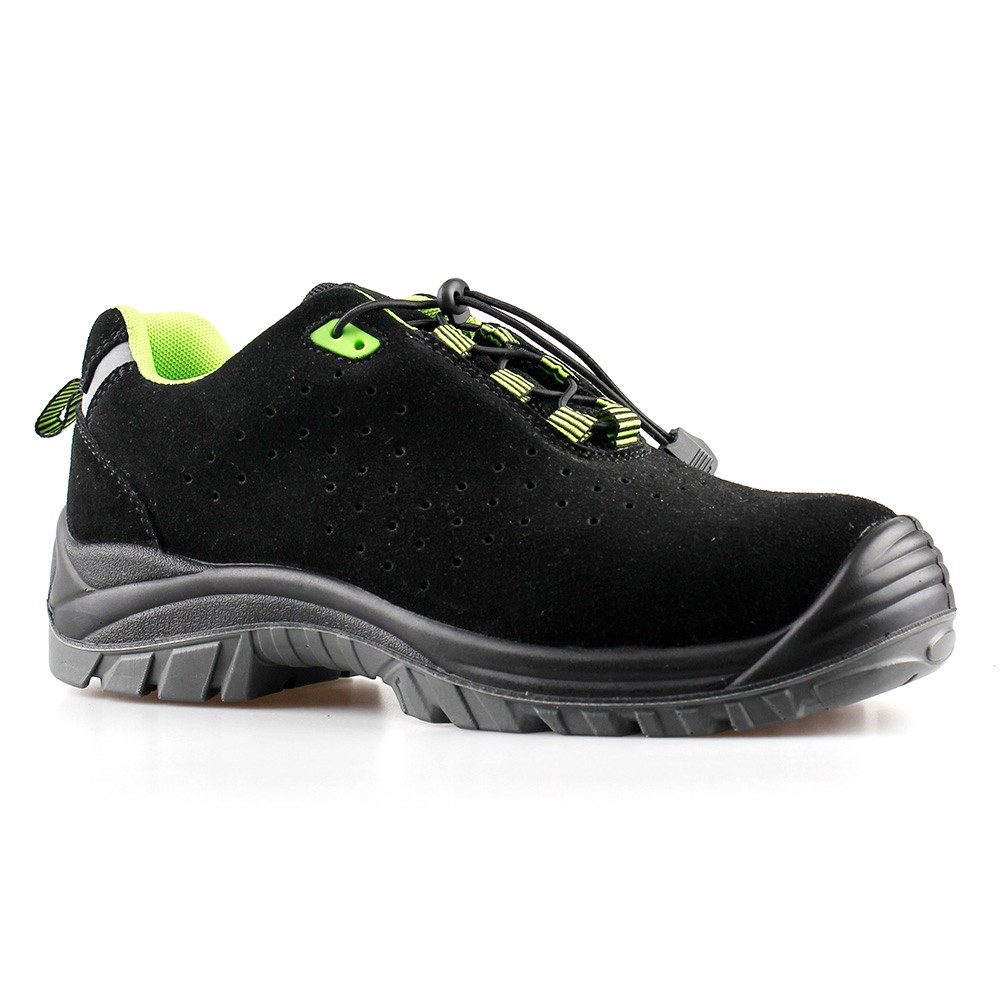 low cut cow suede leather upper safety shoes with composite toecap and Kevlar midsole (SN5813)
