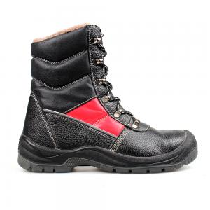 Geniune Leather Safety Boots with Fur and Steel Toe  /Industrial Safety Shoes /Work Boots/Military Boot/Army Shoes Best Quality Sn5299