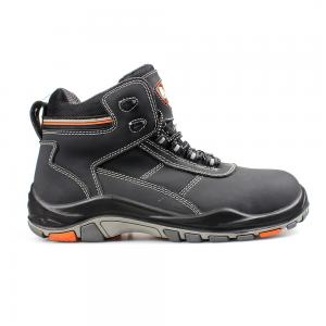 middle cut action nubuck upper safety shoes with PU/RUBBER sole (SN5830)