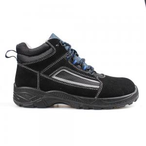 middle cut cow suede leather upper safety shoes with steel toecap and steel midsole (SN5993)