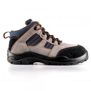 middle cut cow suede leather upper safety shoes with steel toecap and steel midsole (SN6055)
